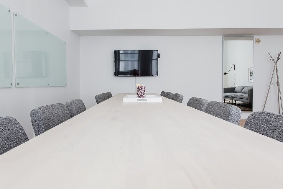 conference room depicting the setting for workplace mediation